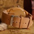 Montre Bois Homme avec bracelet cuir - Don
