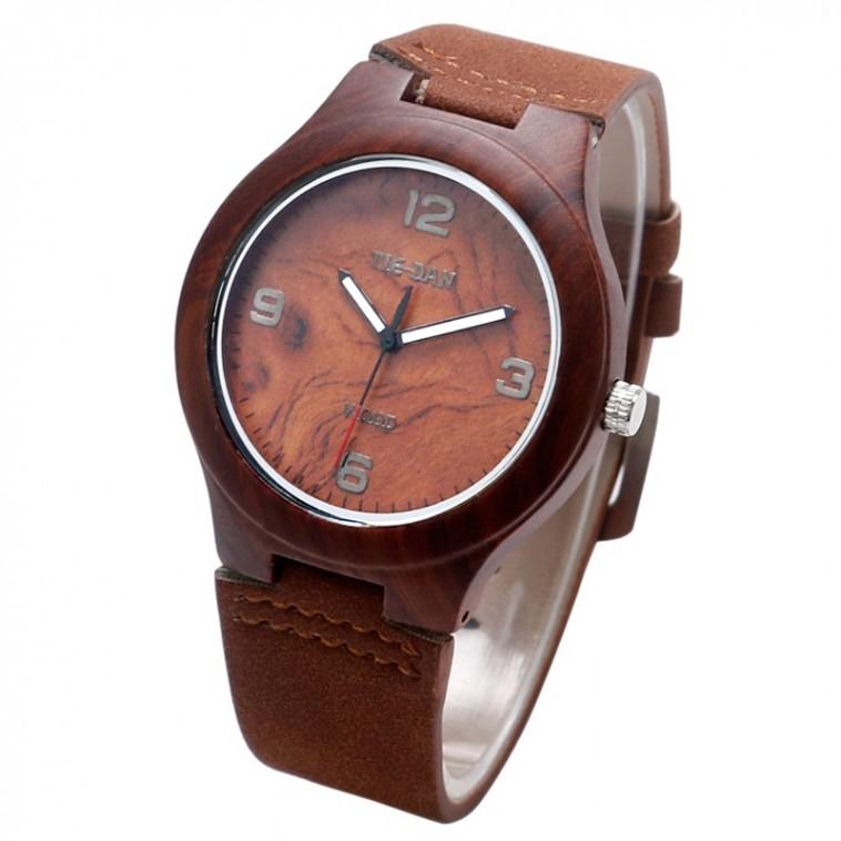Montre Bois Homme avec bracelet cuir - Randall