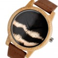 Montre Bois Homme avec bracelet cuir - Oscar