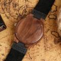 Montre Bois Homme avec bracelet cuir - Tom