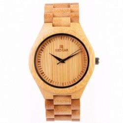 Montre Bois Homme avec bracelet bambou - Ronald