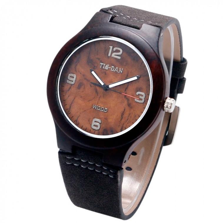 Montre Bois Homme avec bracelet cuir - Lloyd