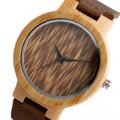 Montre Bois Homme avec bracelet cuir - Leon