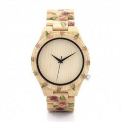 Montre Bois Femme avec bracelet bambou - Floyd