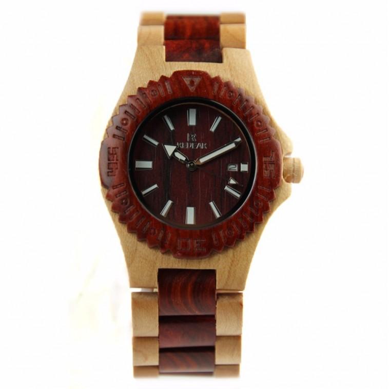 Montre Bois Homme avec bracelet bois - Robert