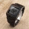 Montre Bois Homme avec bracelet cuir - Derrick