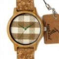 Montre Bois Homme avec bracelet cuir - Herman
