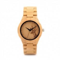 Montre Bois Femme avec bracelet bambou - Michelle