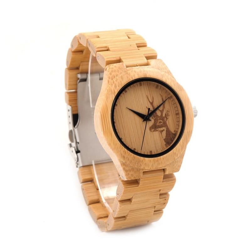 Montre Bois Femme avec bracelet bambou  Michelle