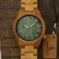 Montre Bois Homme avec bracelet cuir - Rick