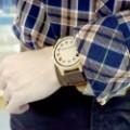 Montre Bois Homme avec bracelet cuir - Brent