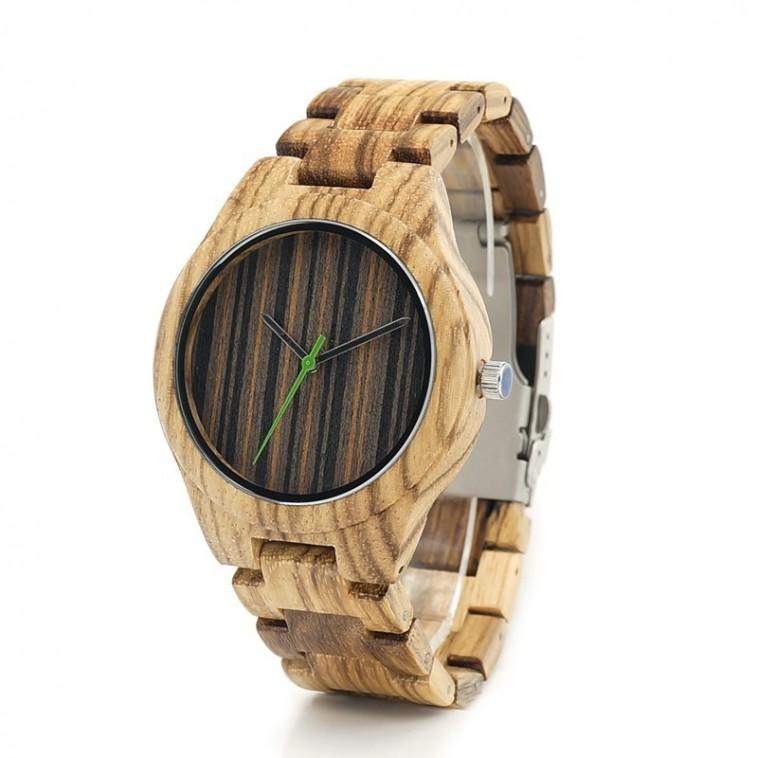 Montre Bois Homme avec bracelet bois - Charlie