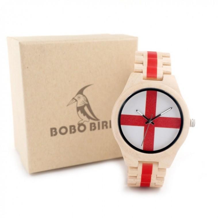 Montre Bois Homme avec bracelet bambou - Brett