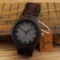 Montre Bois Homme avec bracelet cuir - Chester