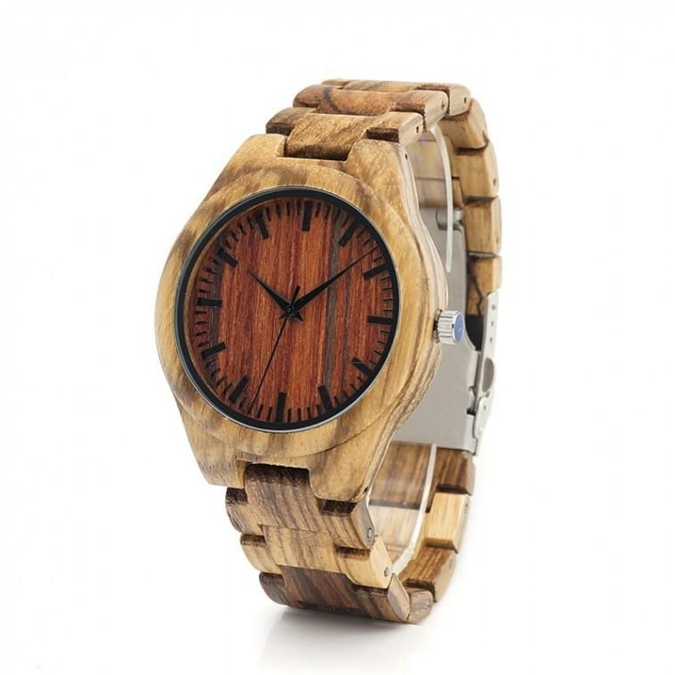 Montre Bois Homme avec bracelet bois - Franklin