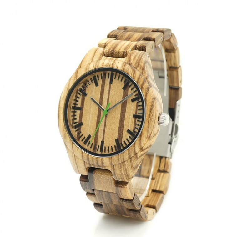 Montre Bois Homme avec bracelet bois - Brad