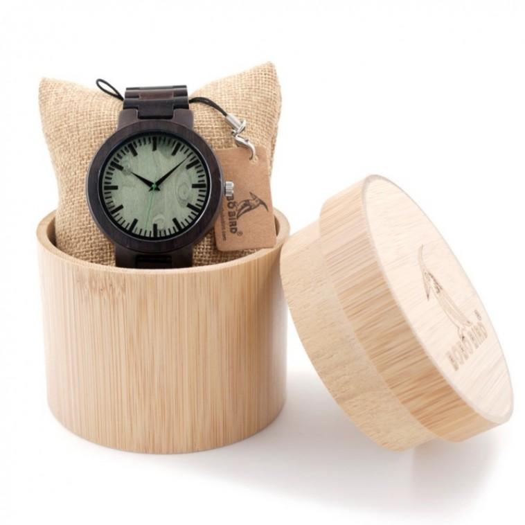 Montre Bois Homme avec bracelet bambou - Ron