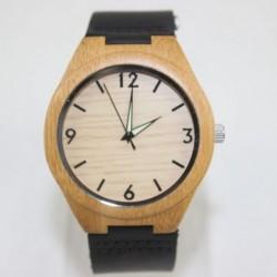 Montre Bois Homme avec bracelet cuir - Larry