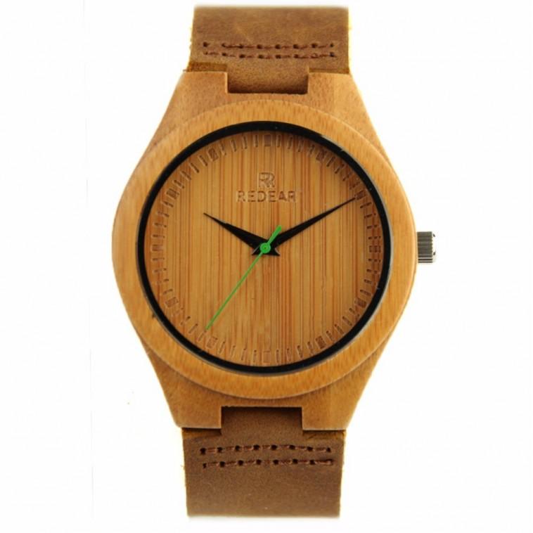 Montre Bois Homme avec bracelet cuir - Jeffrey