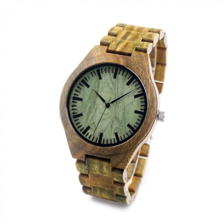 Montre Bois Homme avec bracelet bambou - Jamie