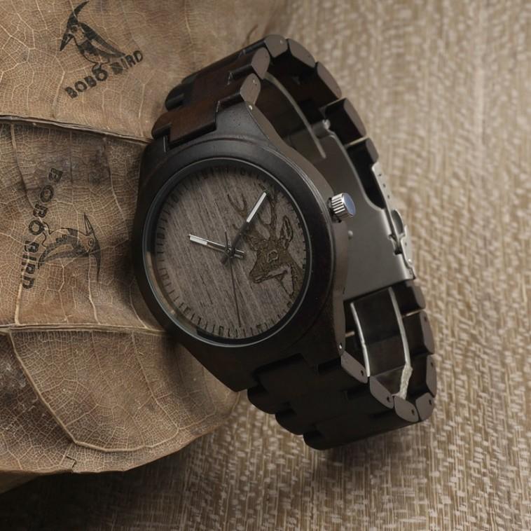 Montre Bois Homme avec bracelet cuir - Armando