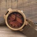 Montre Bois Homme avec bracelet cuir - Everett