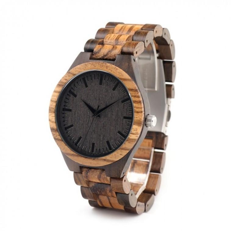 Montre Bois Homme avec bracelet bambou - Jordan