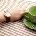 Montre Bois Femme avec bracelet cuir - Anna