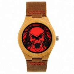 Montre Bois Homme avec bracelet cuir - Andrew
