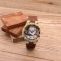 Montre Bois Homme avec bracelet cuir - Julian