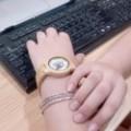 Montre Bois Femme avec bracelet cuir - Pamela