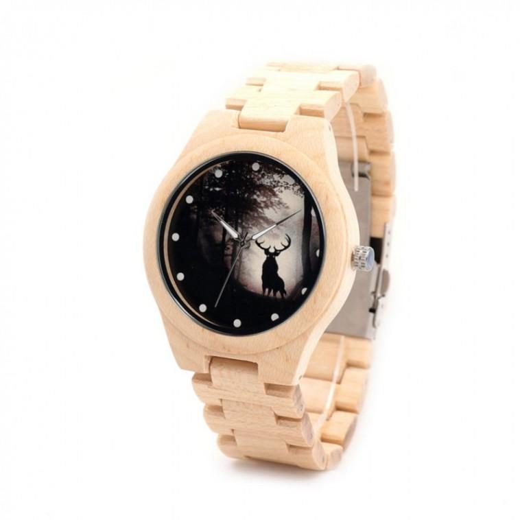 Montre Bois Homme avec bracelet bambou - Morris