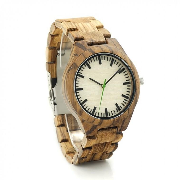 Montre Bois Homme avec bracelet bois - Clifton