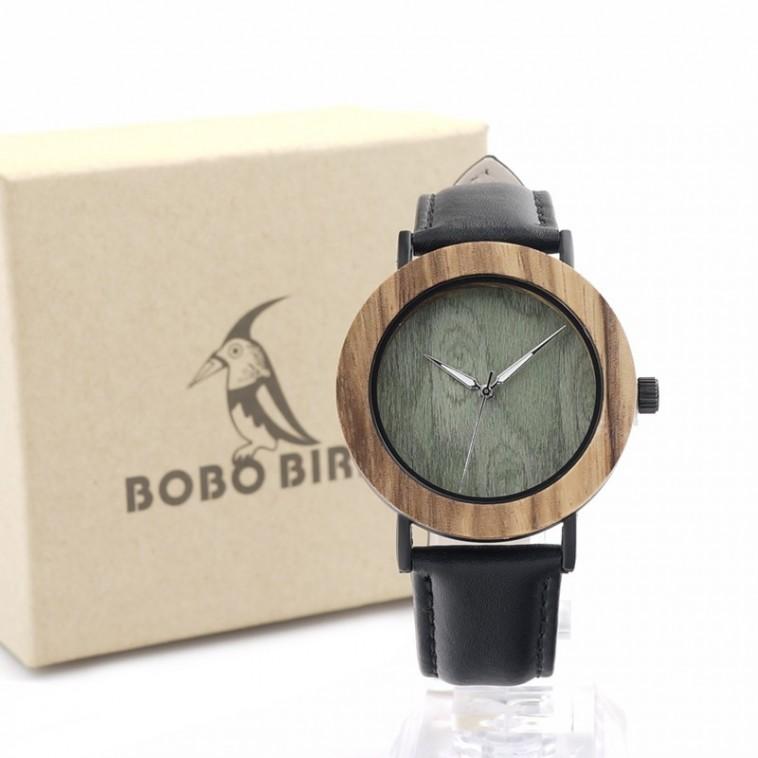 Montre Bois Homme avec bracelet cuir - Willard