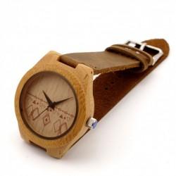 Montre Bois Femme avec bracelet cuir - Martha