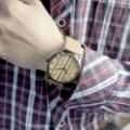 Montre Bois Homme avec bracelet cuir - Tracy