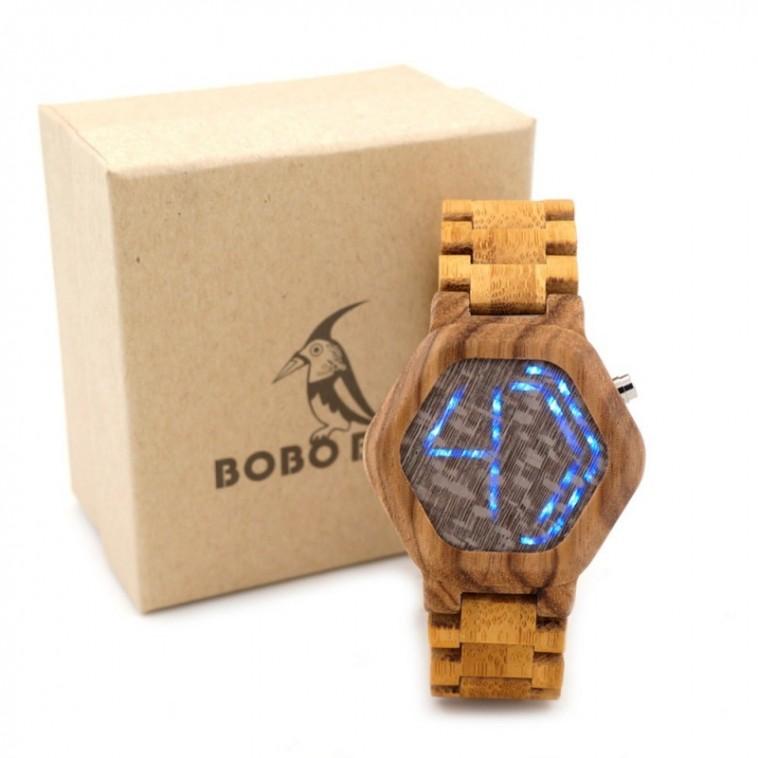 Montre Bois Homme avec bracelet bambou - Wade