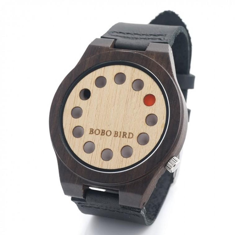 Montre Bois Homme avec bracelet cuir - Austin