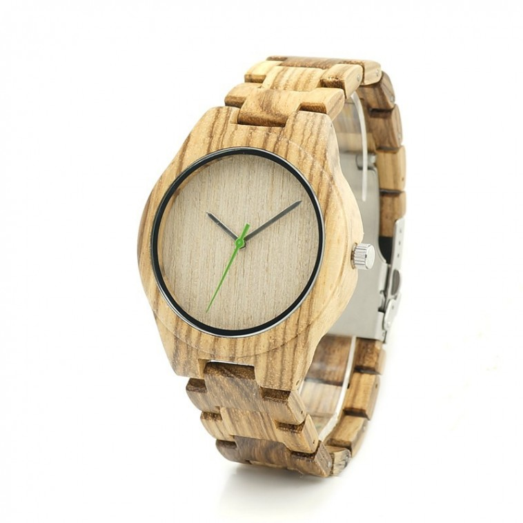 Montre Bois Homme avec bracelet bois - Shannon
