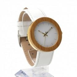 Montre Bois Femme avec bracelet cuir - Alfonsa