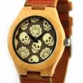 Montre Bois Homme avec bracelet cuir - Patrick