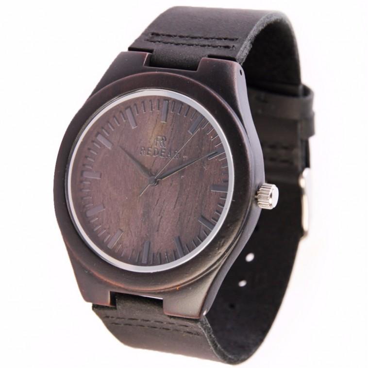 Montre Bois Homme avec bracelet cuir - Harold