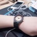 Montre Bois Femme avec bracelet cuir - Ann