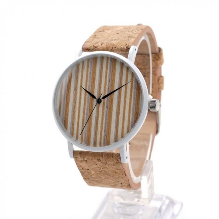 Montre Bois Homme avec bracelet cuir - Cesar