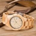 Montre Bois Homme avec bracelet bois érable - Garry