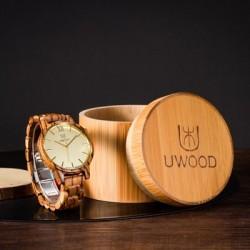 Montre Bois Homme avec bracelet bois - Alton 3