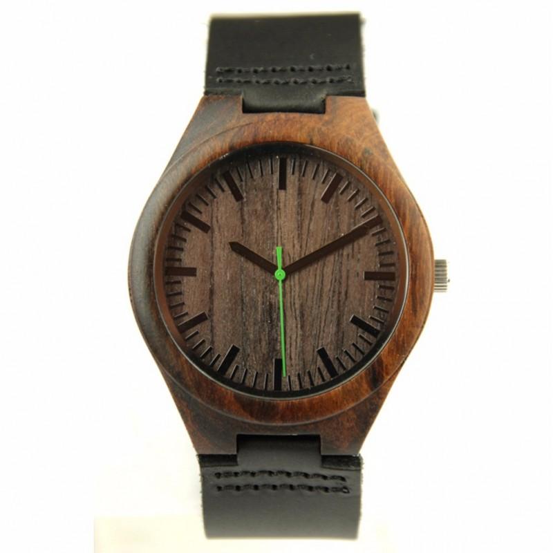 Montre Bois Homme avec bracelet bois  Henry  Montreboisfr