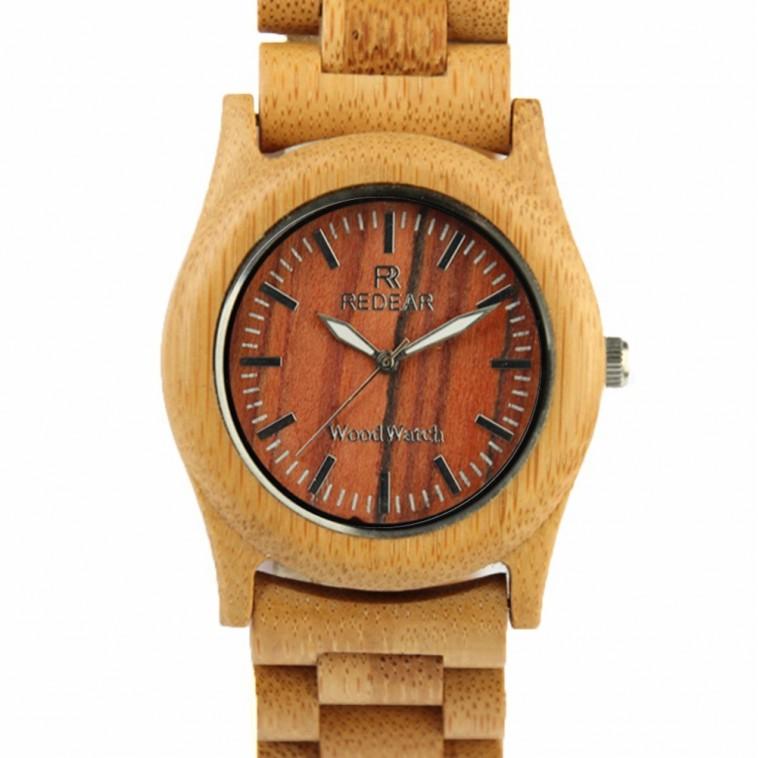 Montre Bois Homme avec bracelet bois - Roy