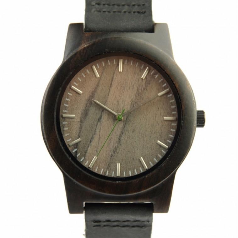 Montre Bois Homme avec bracelet cuir - Louis
