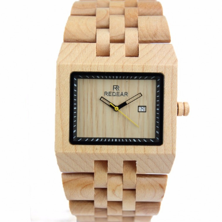 Montre Bois Homme avec bracelet bois - Phillip